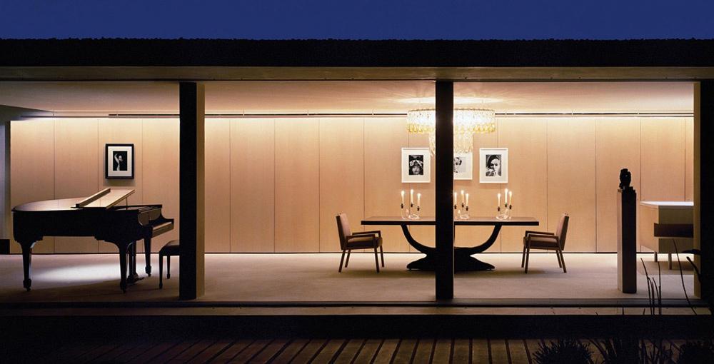 Dining Room, Piano, Casa Finisterra, Baja California Sur, Mexico by Steven Harris Architects
