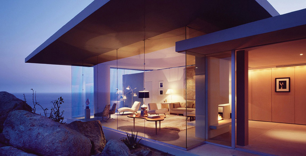 Glass Walls, Casa Finisterra, Baja California Sur, Mexico by Steven Harris Architects