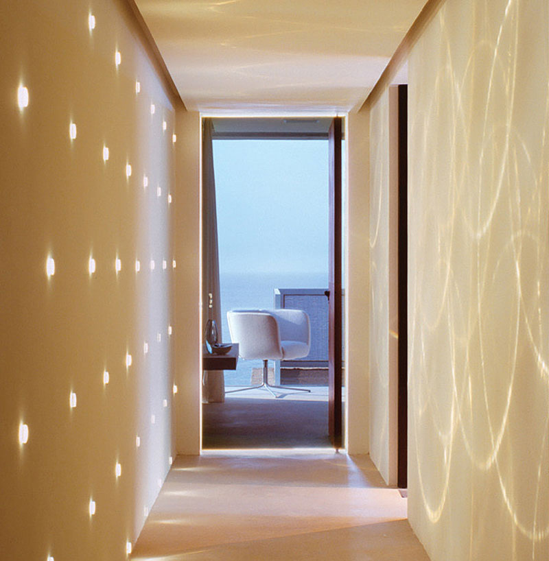 Hallway, Casa Finisterra, Baja California Sur, Mexico by Steven Harris Architects