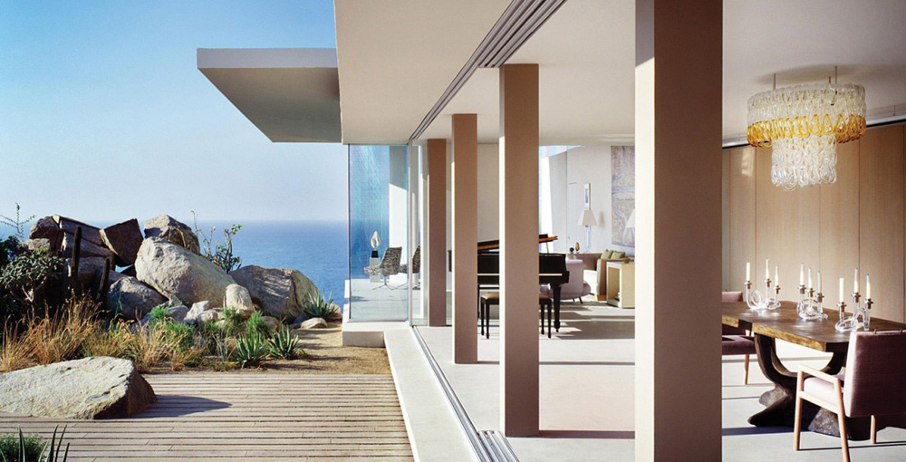 Open Living Space & Terrace, Casa Finisterra, Baja California Sur, Mexico by Steven Harris Architects