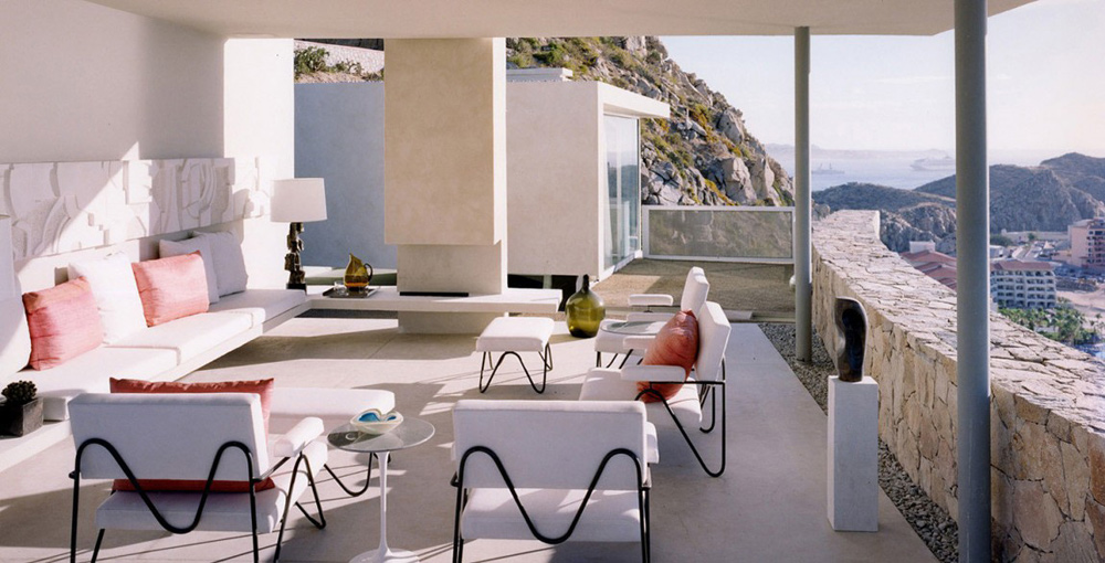 Outdoor Living, Casa Finisterra, Baja California Sur, Mexico by Steven Harris Architects