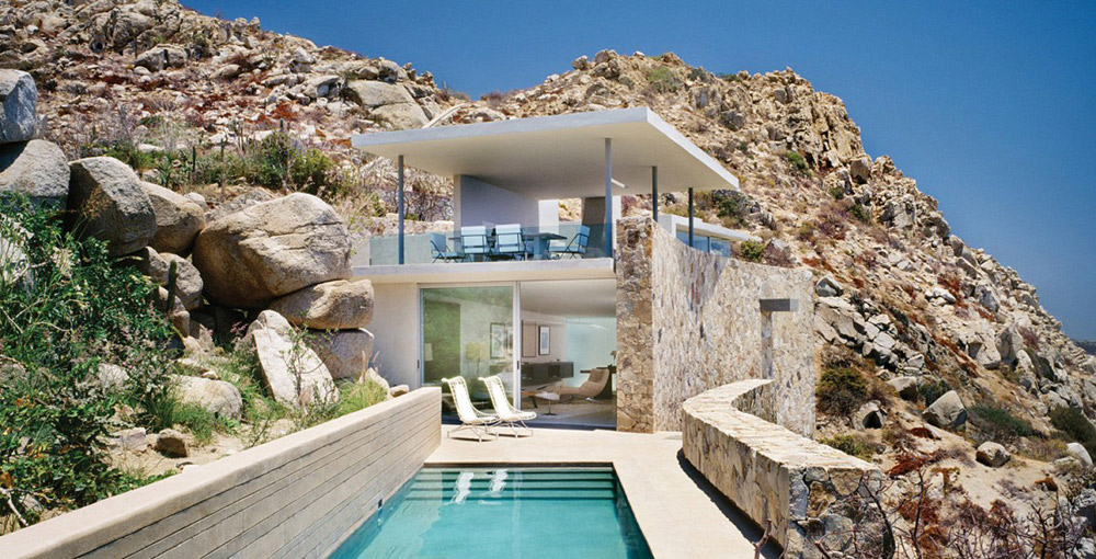 Outdoor PoolSwimming Pool, Casa Finisterra, Baja California Sur, Mexico by Steven Harris Architects
