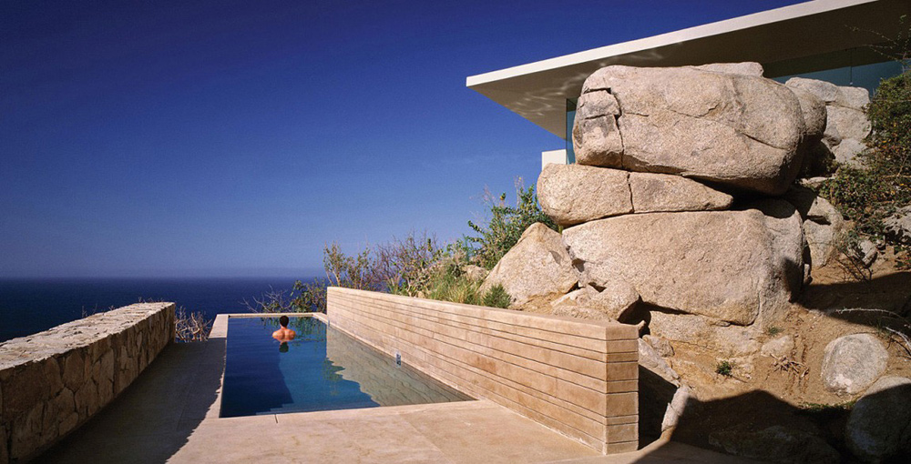 Swimming Pool with Sea Views, Casa Finisterra, Baja California Sur, Mexico by Steven Harris Architects