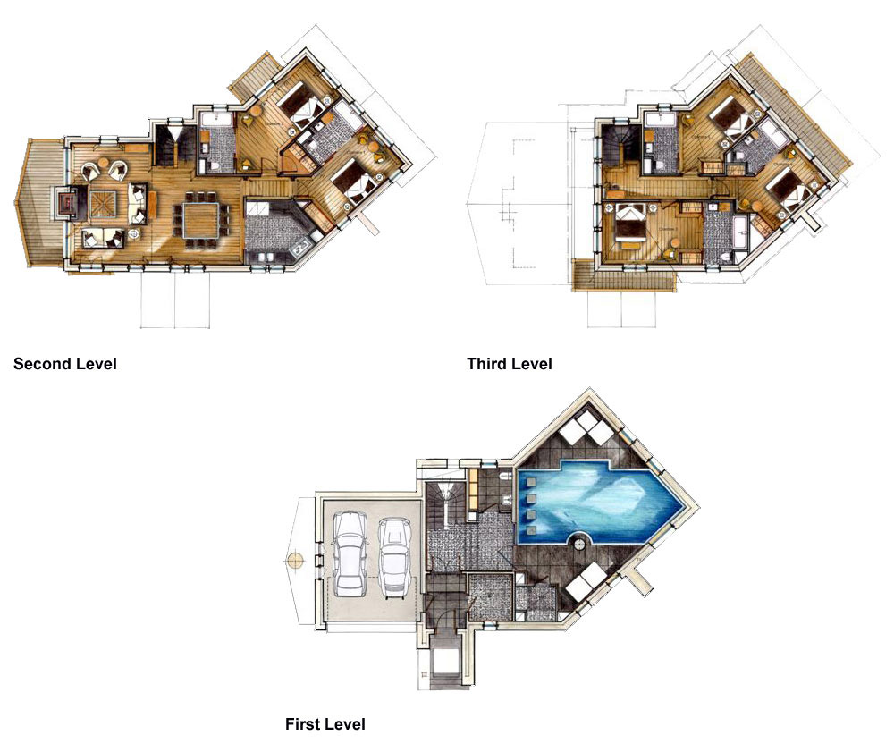 Plan, Chalet White Pearl by Philippe Capezzone