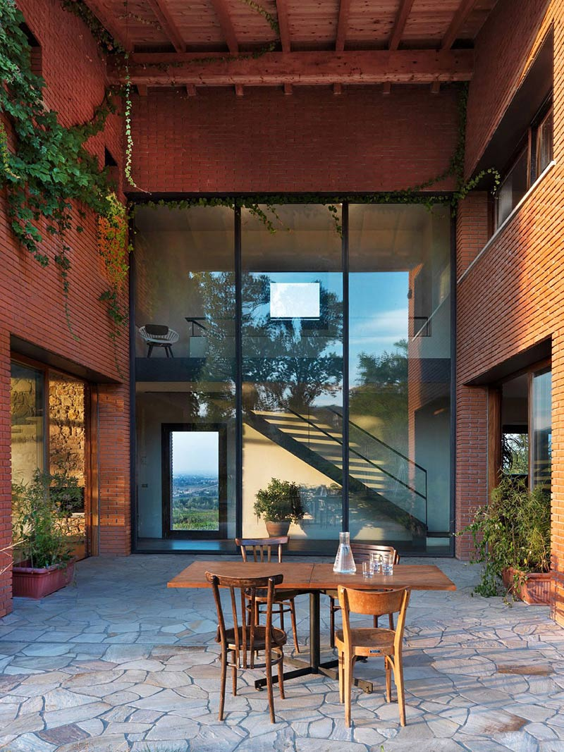 Courtyard, Countryhouse in Val Tidone, Italy by Park Associati