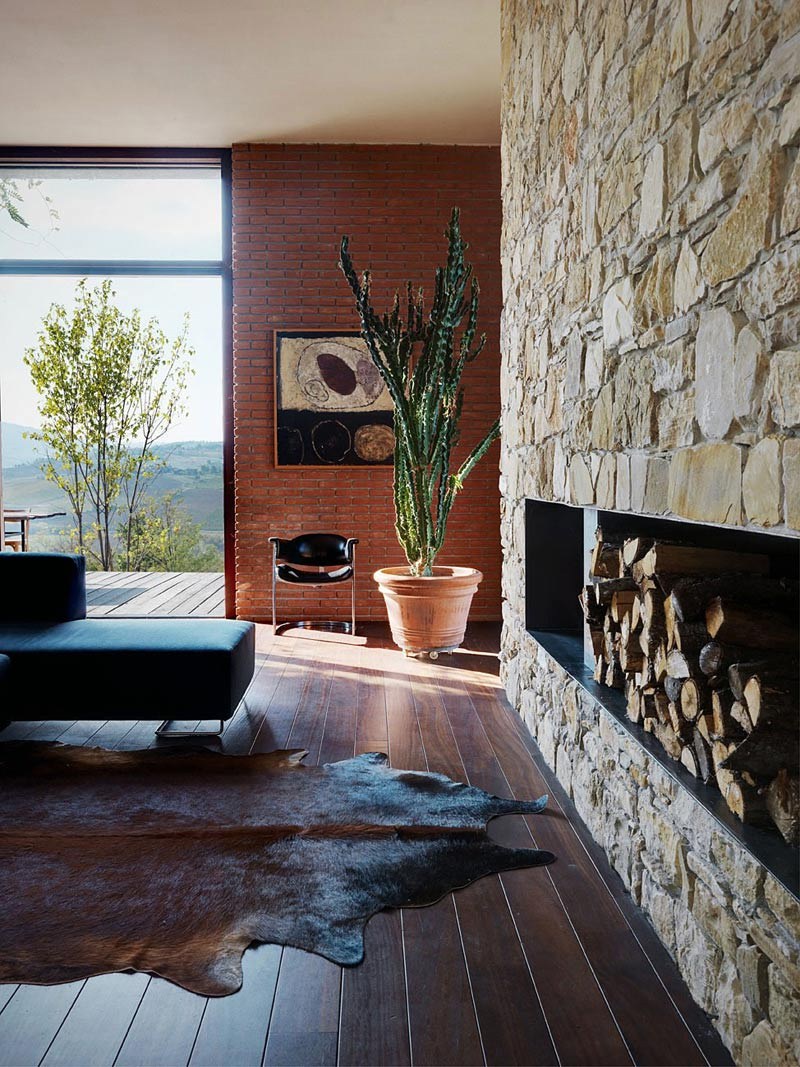 Living Room, Countryhouse in Val Tidone, Italy by Park Associati