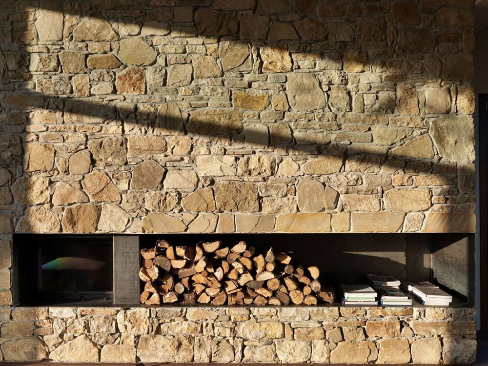 Fireplace, Countryhouse in Val Tidone, Italy by Park Associati