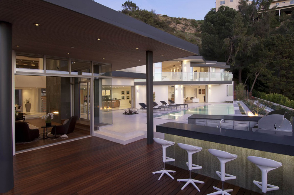 Outdoor Bar, Doheny Residence, Hollywood Hills by Luca Colombo Design