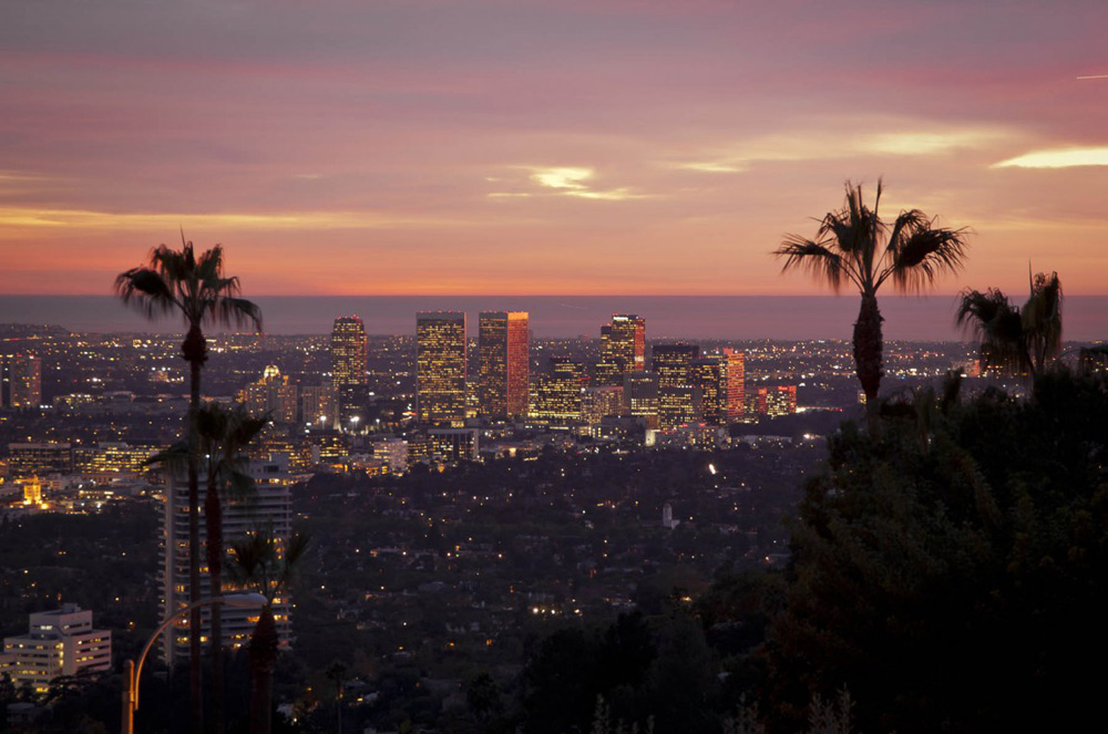 Evening View, Doheny Residence, Hollywood Hills by Luca Colombo Design