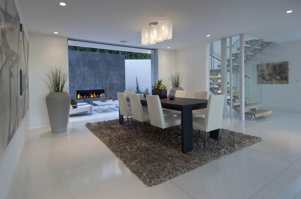 Dining Space, Doheny Residence, Hollywood Hills by Luca Colombo Design