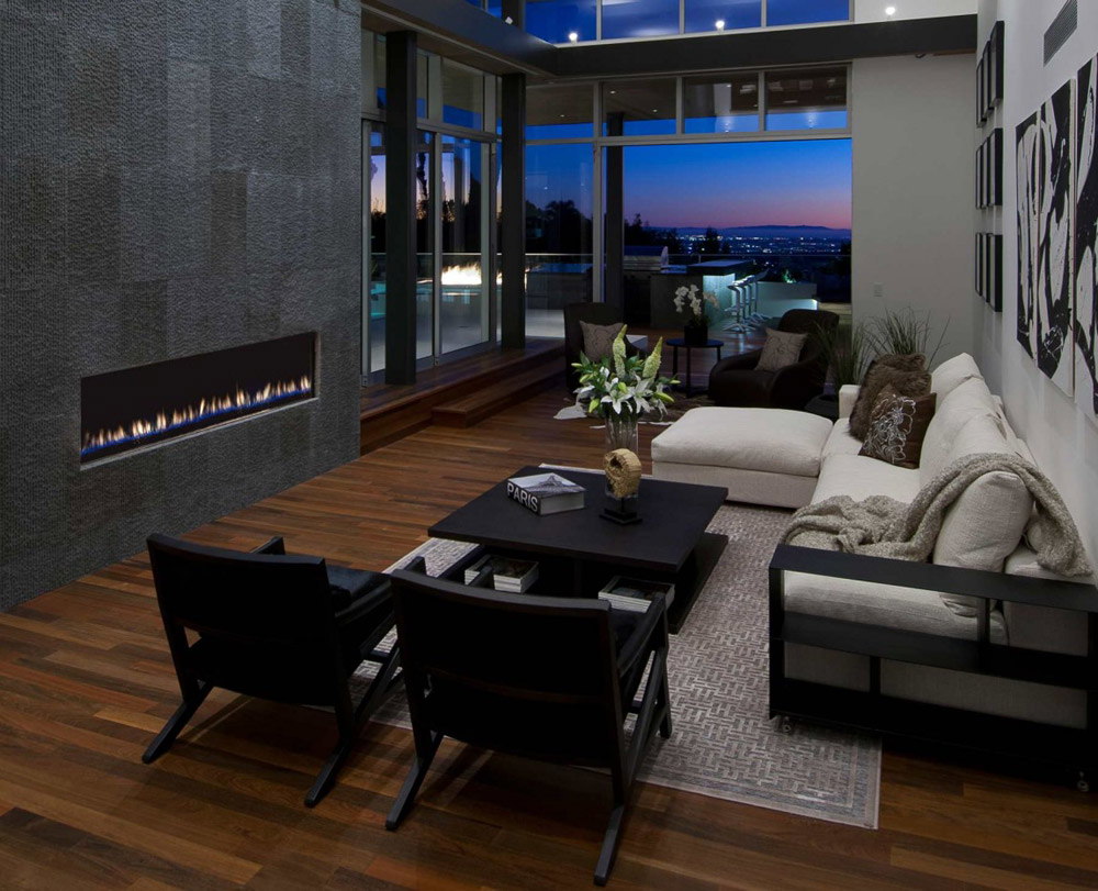 Fireplace, Doheny Residence, Hollywood Hills by Luca Colombo Design