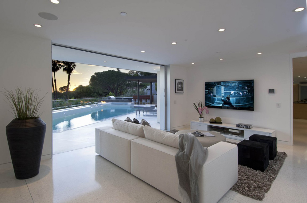 Living Space, Doheny Residence, Hollywood Hills by Luca Colombo Design
