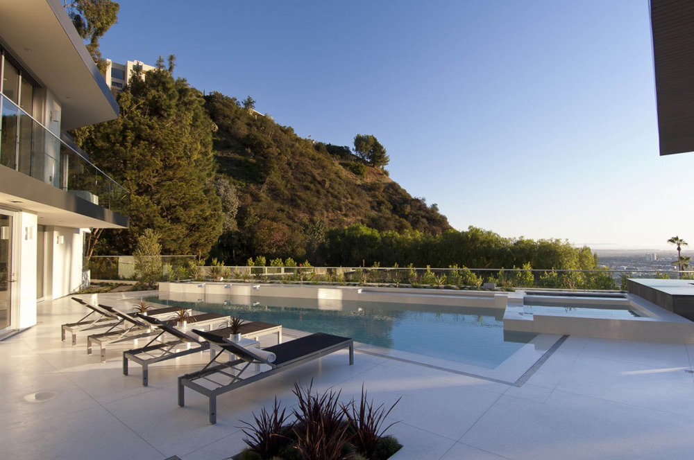 Pool & Views, Doheny Residence, Hollywood Hills by Luca Colombo Design