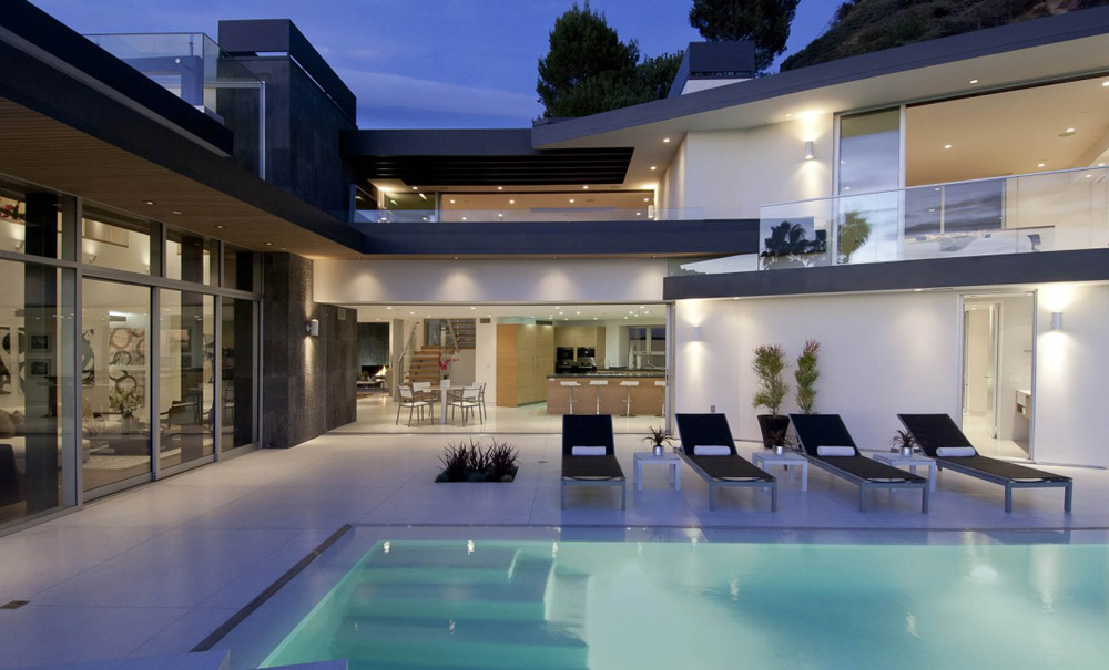 Pool, Doheny Residence, Hollywood Hills by Luca Colombo Design