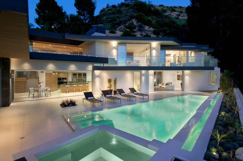 Evening, Doheny Residence, Hollywood Hills by Luca Colombo Design