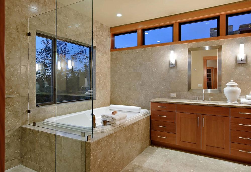 Bathroom, Harrison Street Residence by Scott Allen Architecture