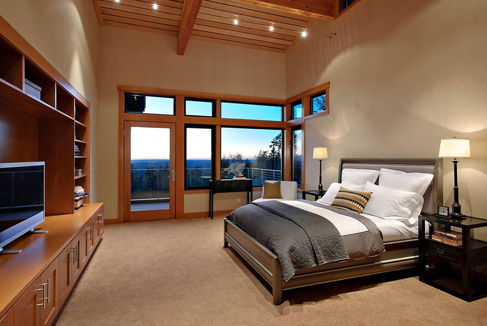 Bedroom, Harrison Street Residence by Scott Allen Architecture
