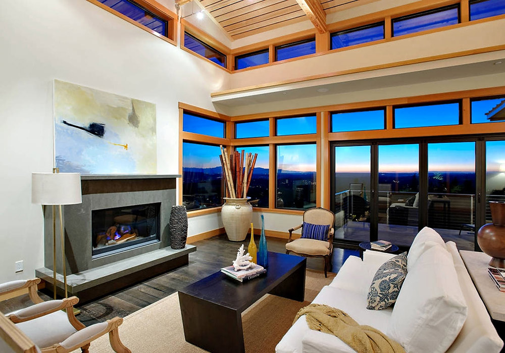 Living Space, Contemporary Fireplace, Harrison Street Residence by Scott Allen Architecture