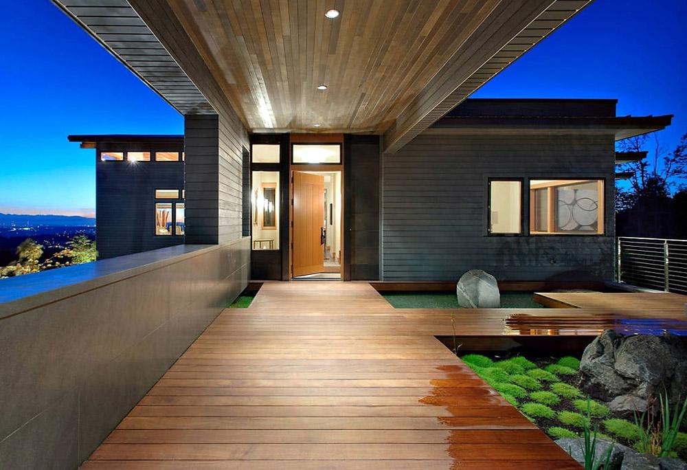 Entrance, Harrison Street Residence by Scott Allen Architecture