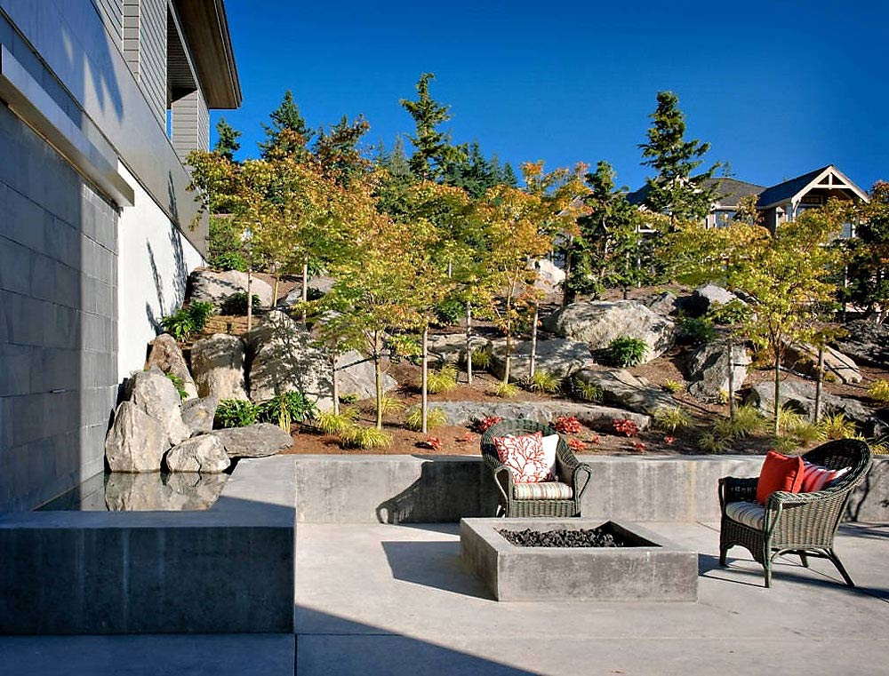 Fire Pit, Outdoor Living, Harrison Street Residence by Scott Allen Architecture