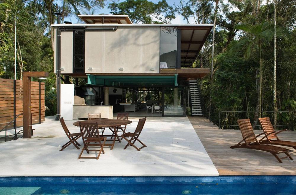 Terrace, House in Iporanga,Brazil by Nitsche Arquitetos Associados