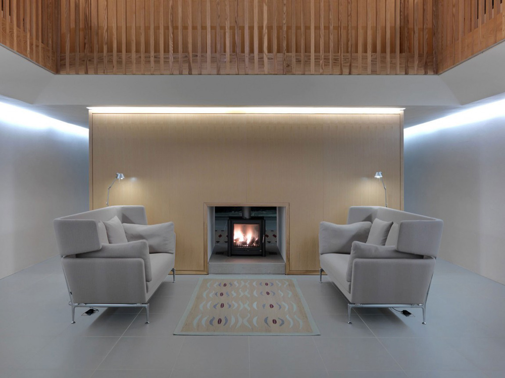 Fireplace, The Long House by Hopkins Architects