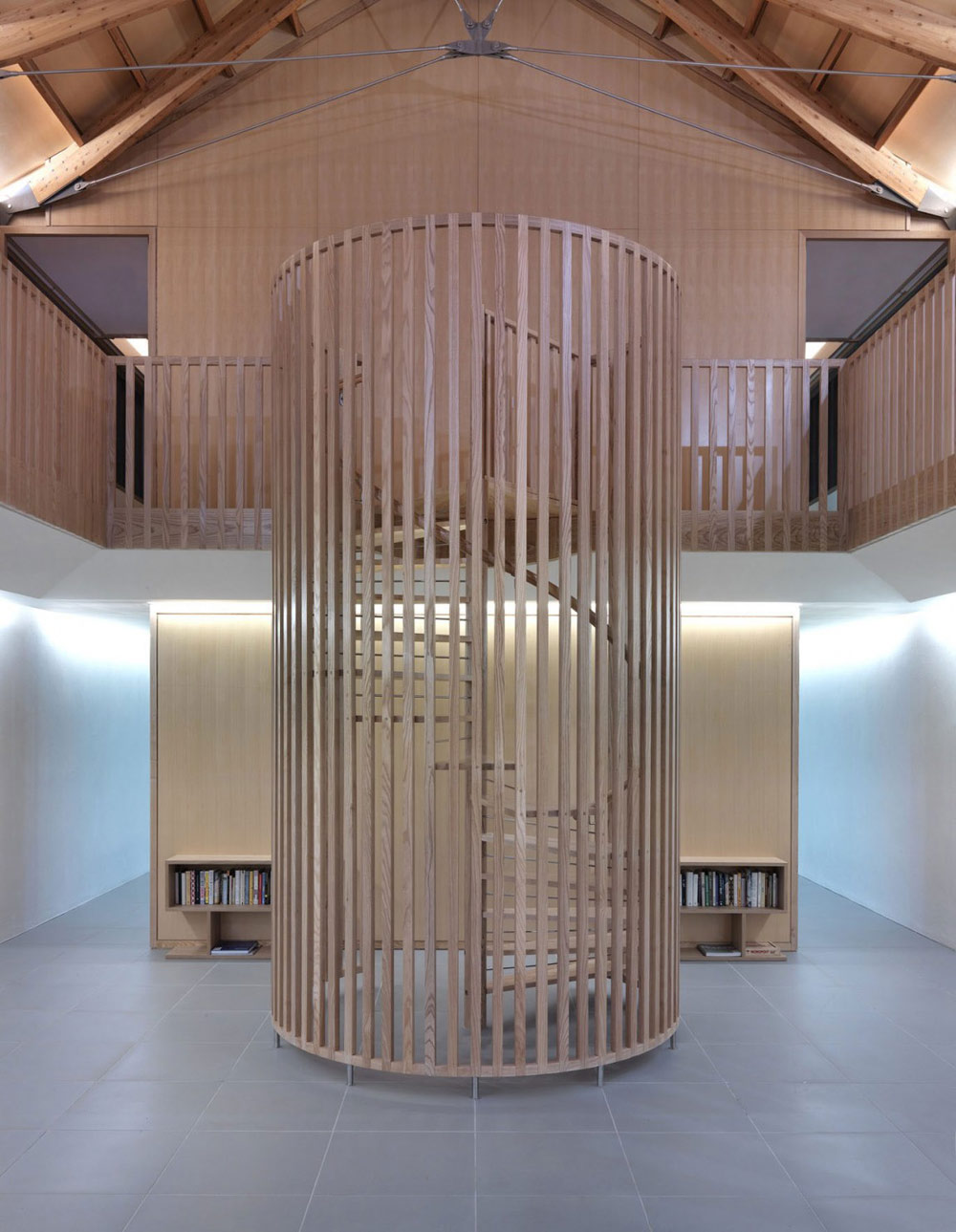 Spiral Staircase, The Long House by Hopkins Architects