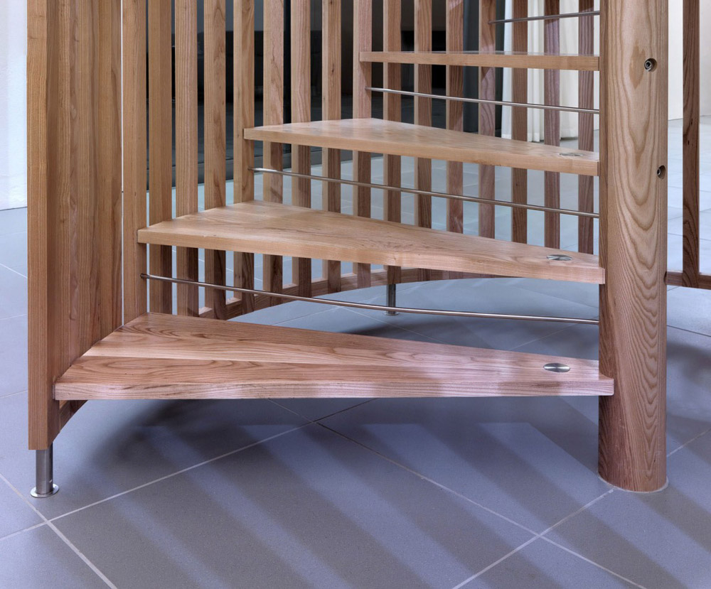 Spiral Staircase Detail, The Long House by Hopkins Architects