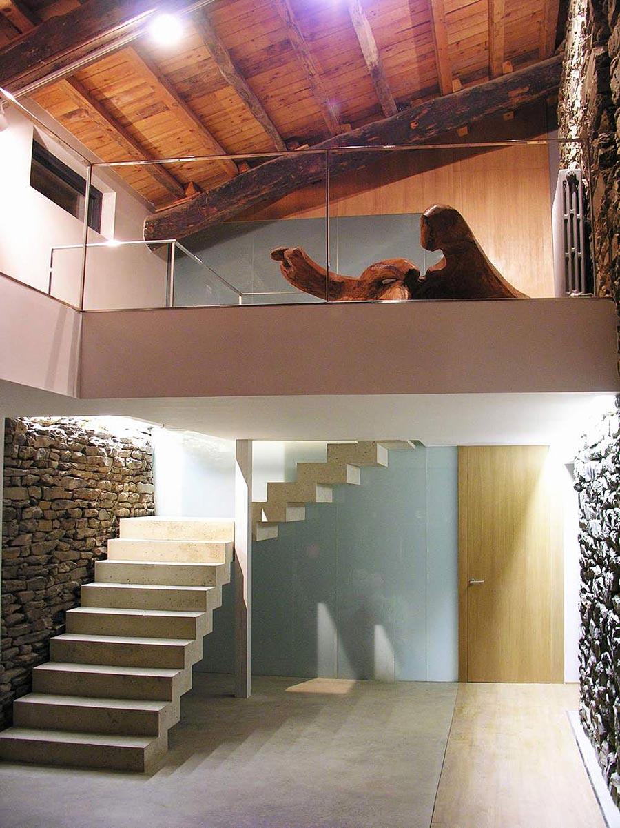 Staircase, Mas La Riba by Ferran López Roca Arquitectura
