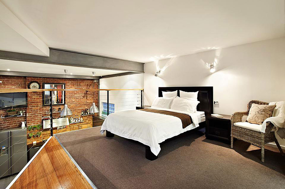 Bedroom, Warehouse Conversion in Abbotsford