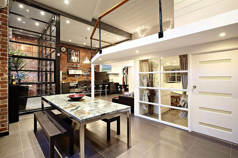 Dining & Living Space, Warehouse Conversion in Abbotsford