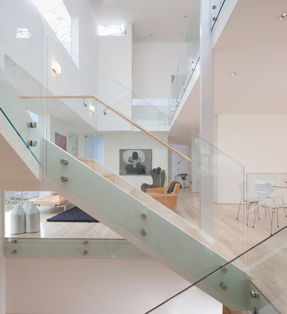 Stairs & Living Space, NaCl Residence by David Jameson Architect Inc