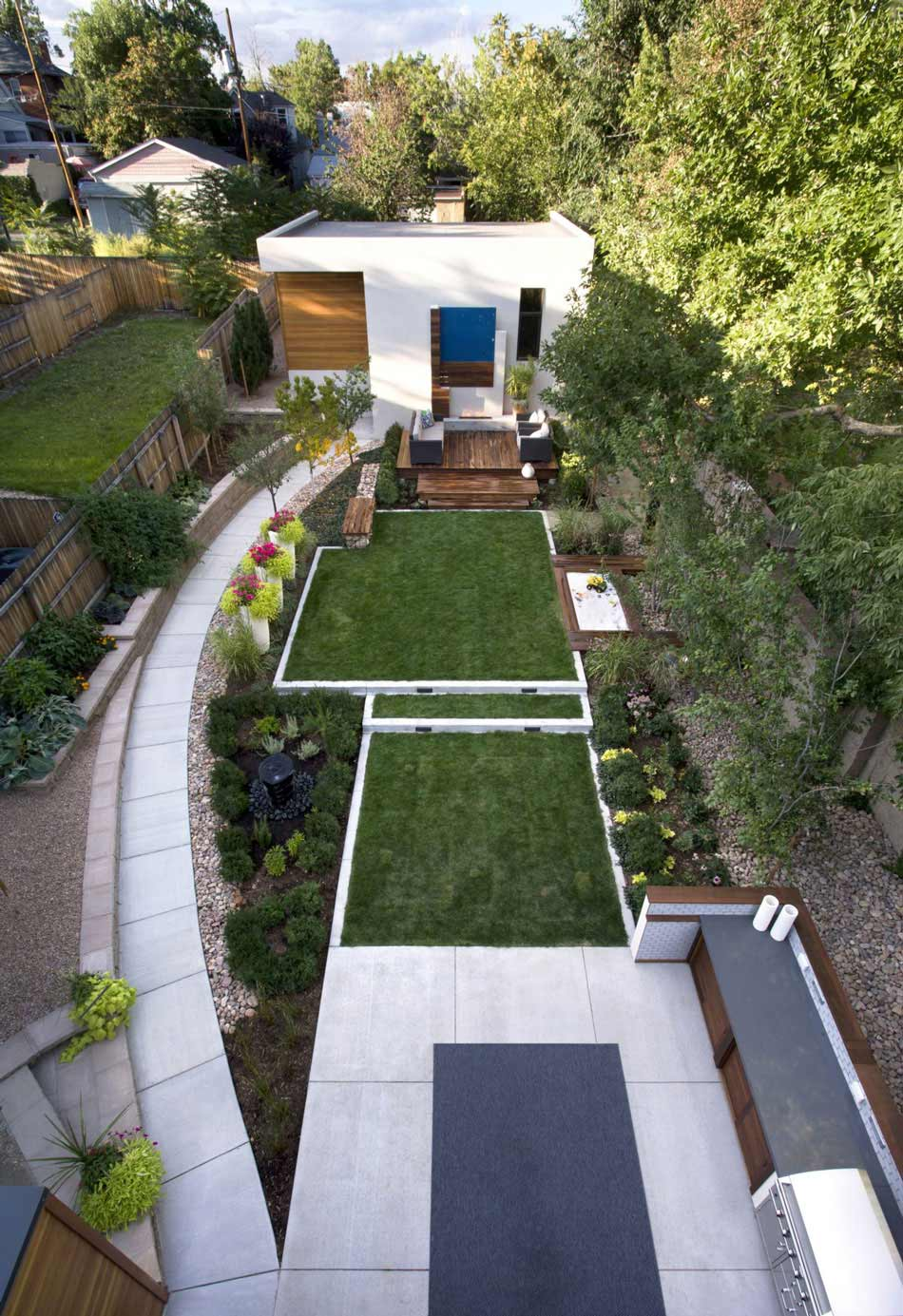 Garden, Shield House, Colorado by Studio H:T