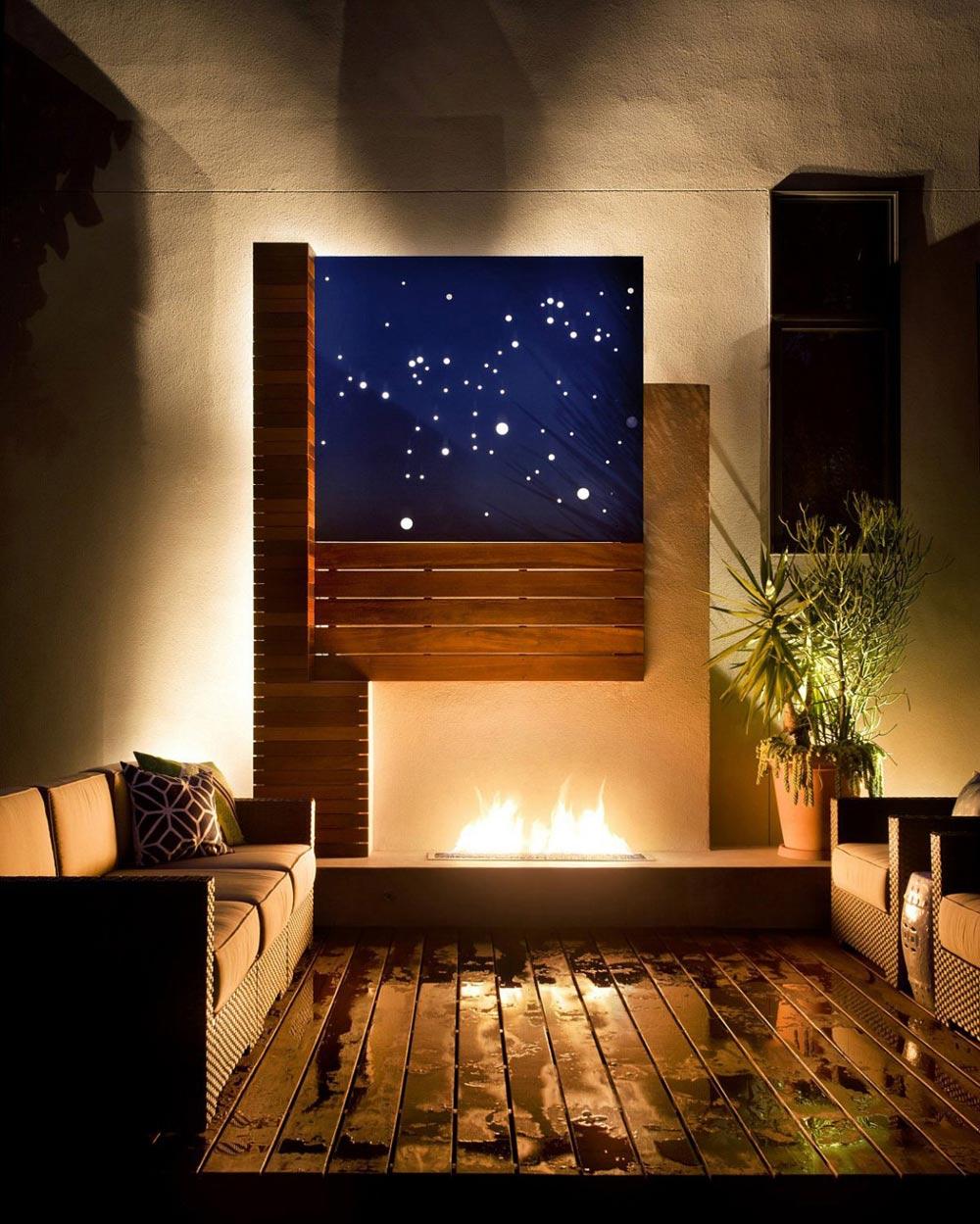 Terrace & Fireplace, Shield House, Colorado by Studio H:T