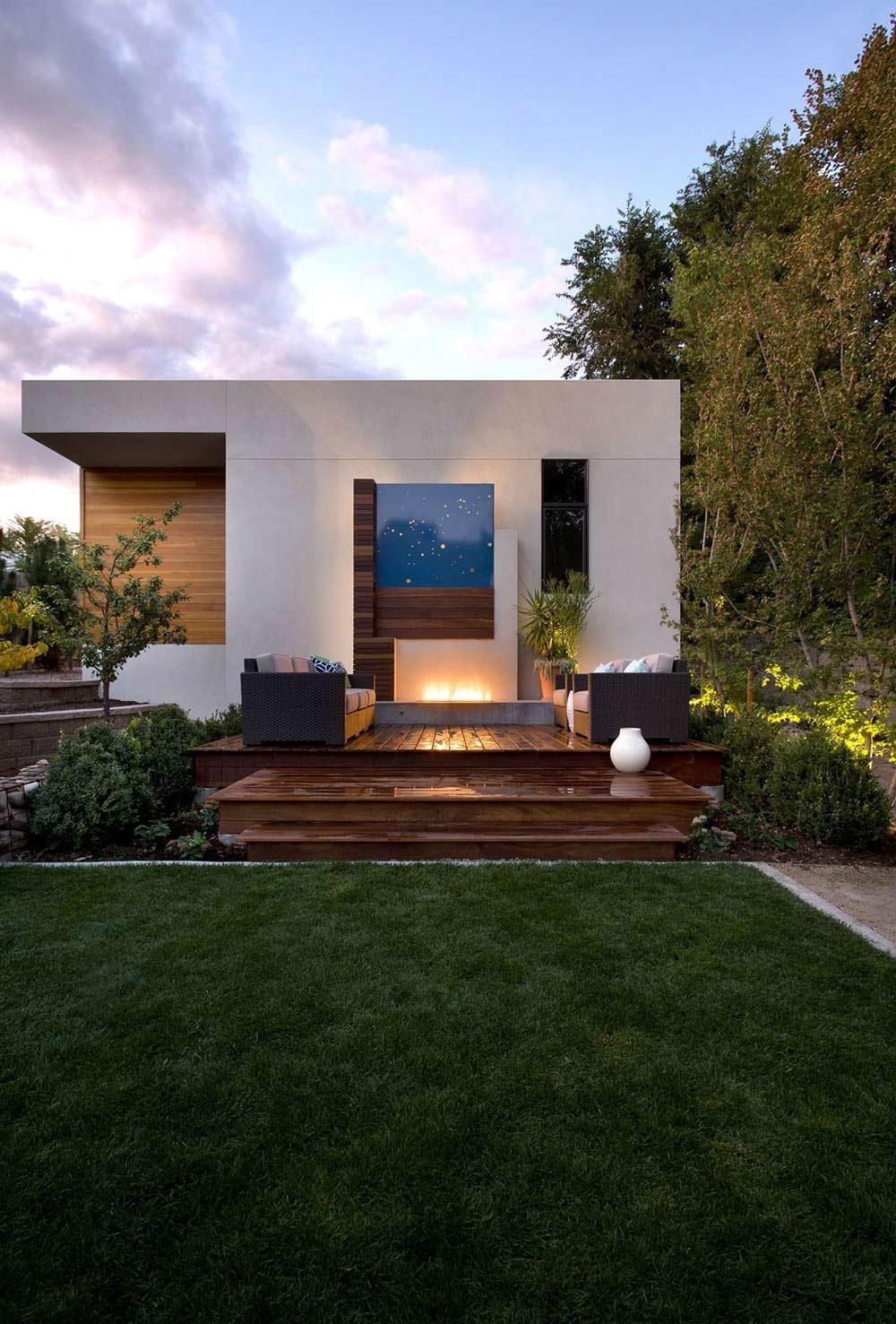 Terrace, Shield House, Colorado by Studio H:T