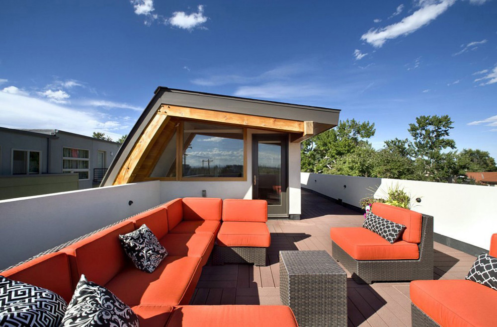 Rooftop Terrace, Shield House, Colorado by Studio H:T