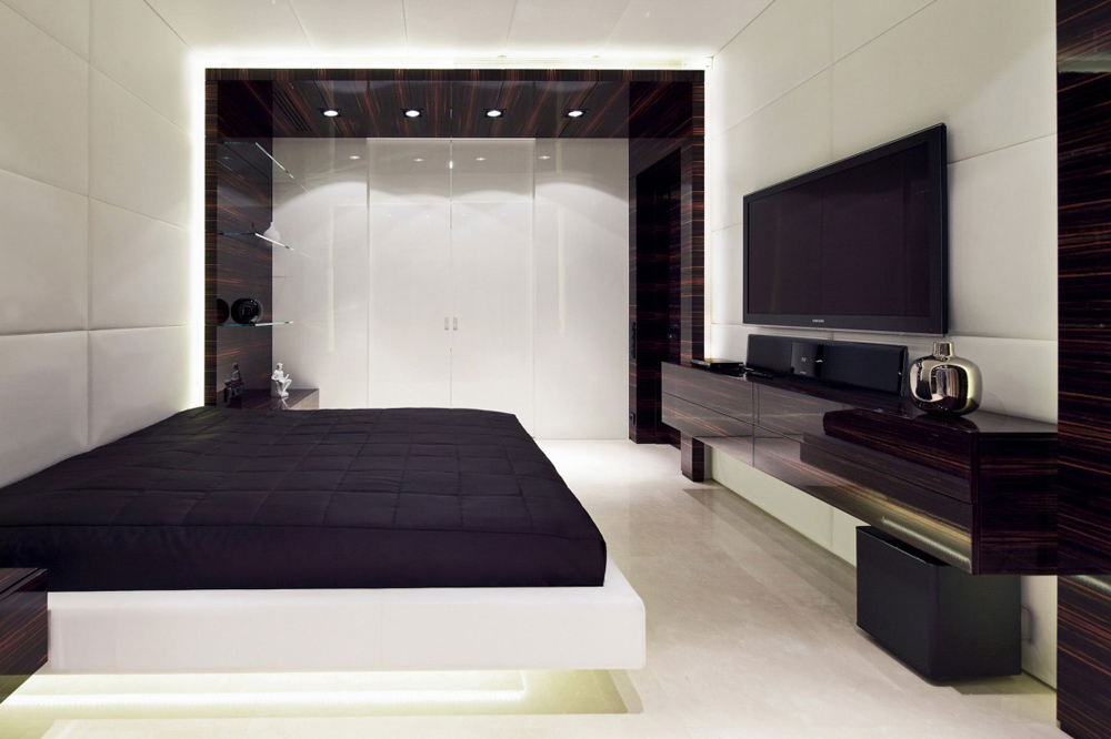 Bedroom, Shuvalovsky Apartment, Moscow by Geometrix Design
