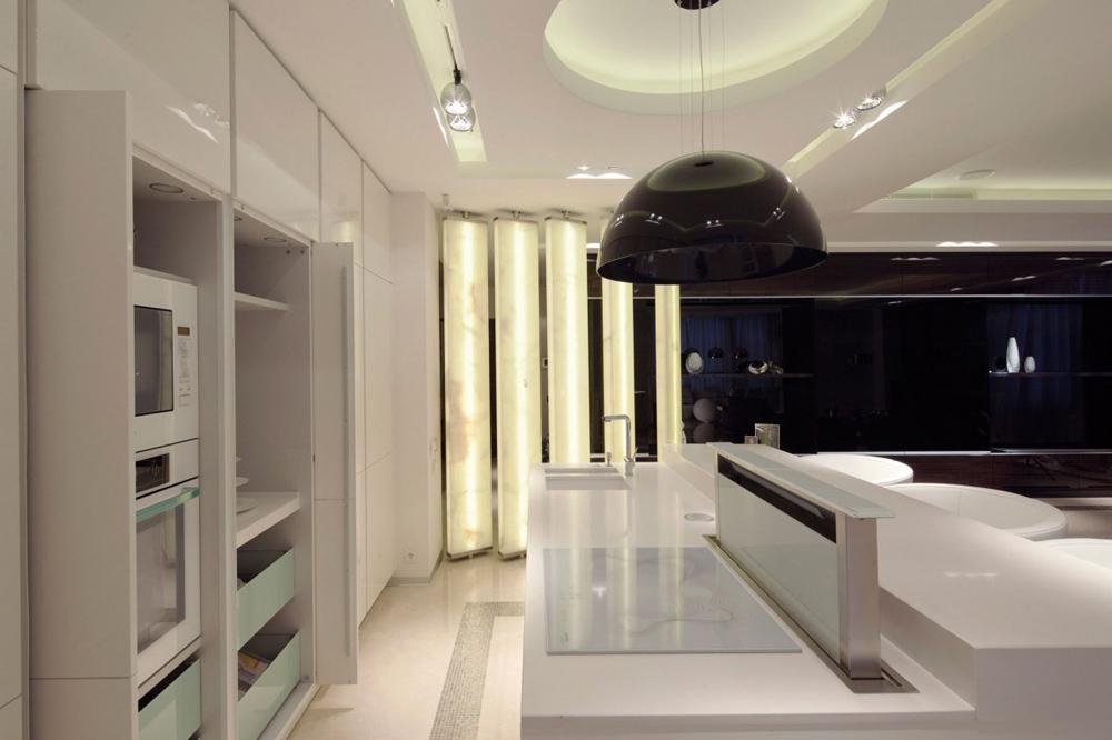 Kitchen, Shuvalovsky Apartment, Moscow by Geometrix Design