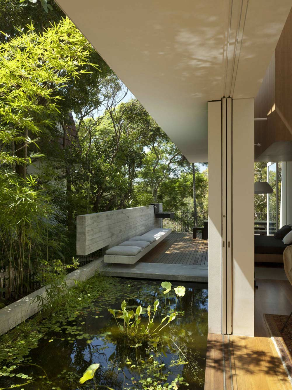 Water Feature, Skirt + Rock House by MCK Architects