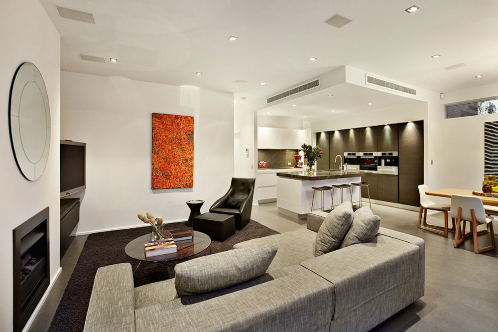 Living Space, Top of the Hill Residence in Melbourne, Australia
