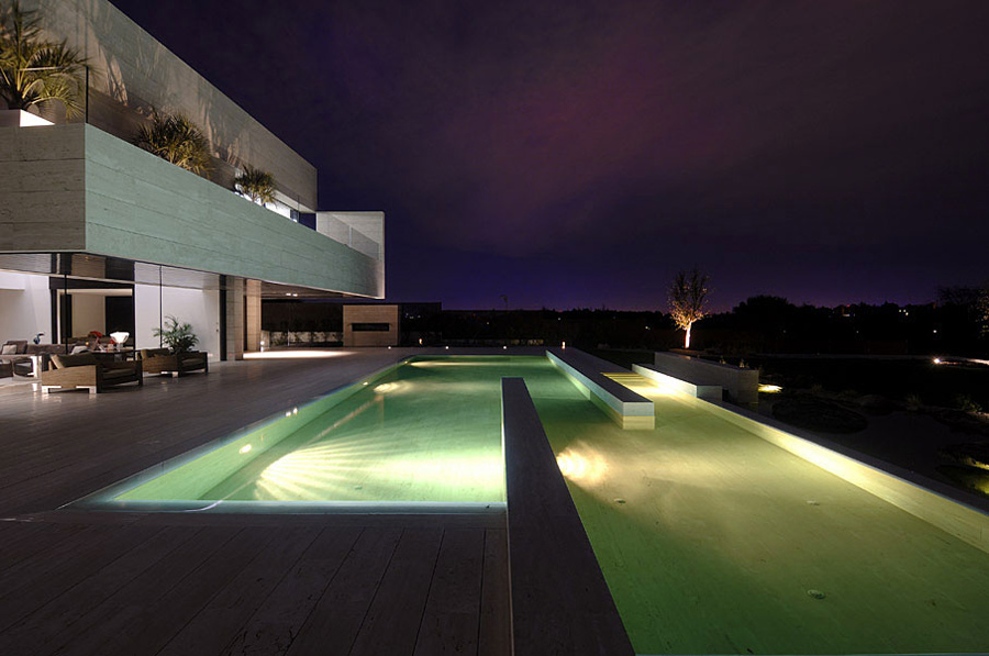 Pool in the Evening, The Vivienda 19 by A-cero