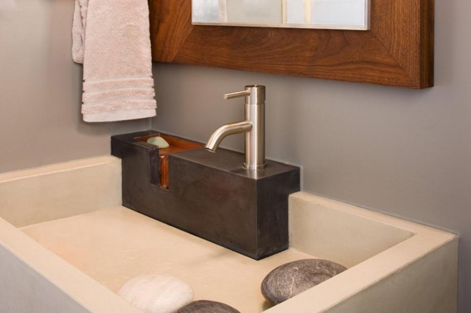 Sink Detail, Westlake Drive House by James D. LaRue Architects