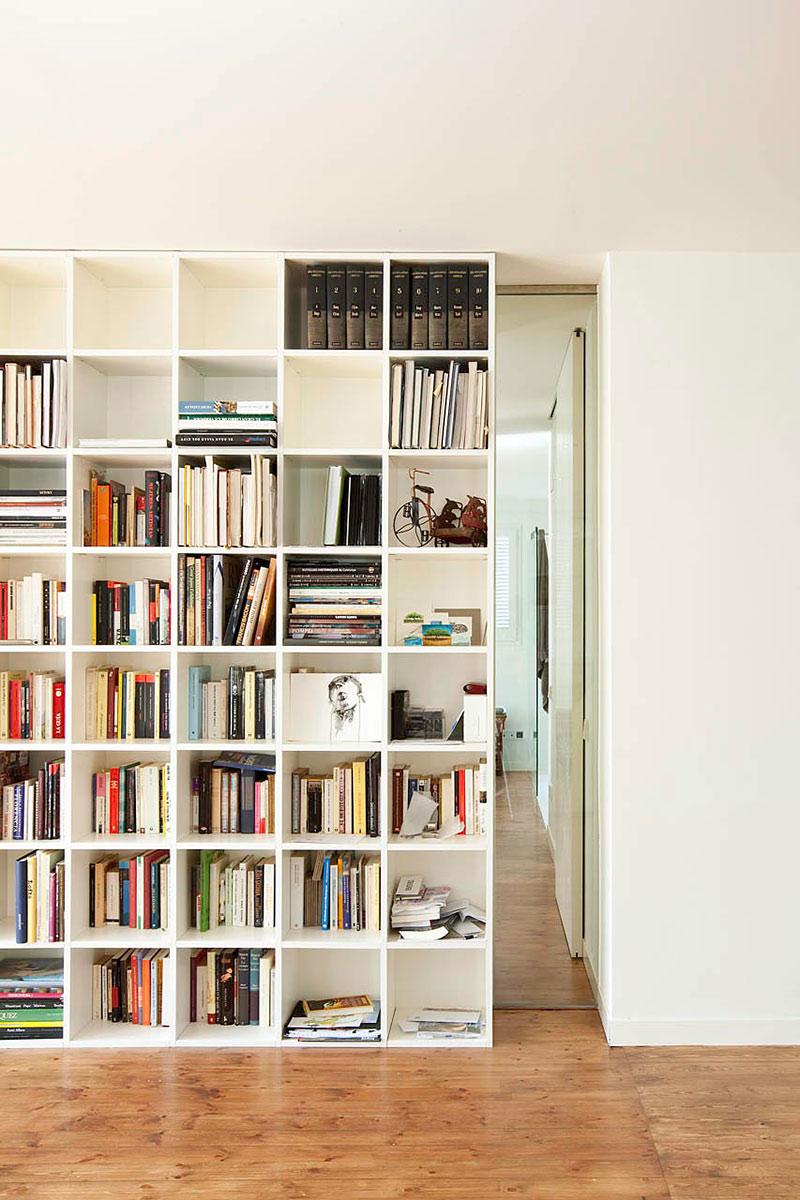 Bookshelf, Bonanova Apartment by Marià Castelló Martínez