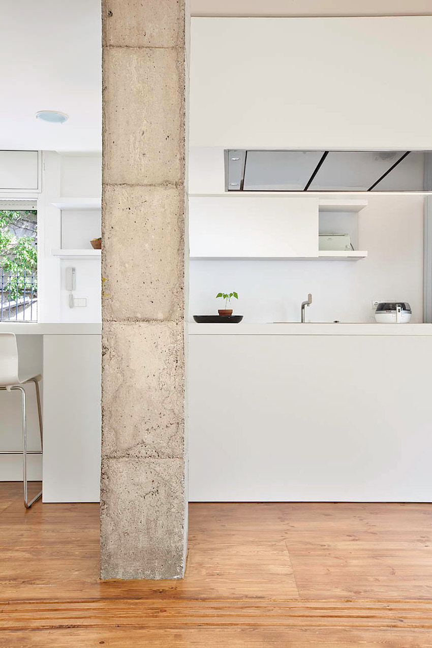 Kitchen, Bonanova Apartment by Marià Castelló Martínez