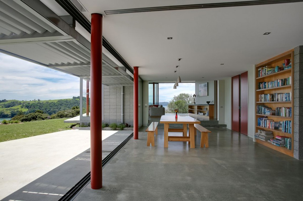 Dining Room, Bourke House, New Zealand by Pacific Environments Architects