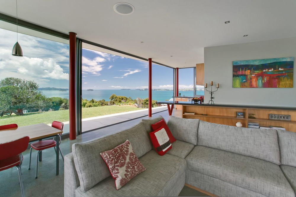 Living Room, Bourke House, New Zealand by Pacific Environments Architects
