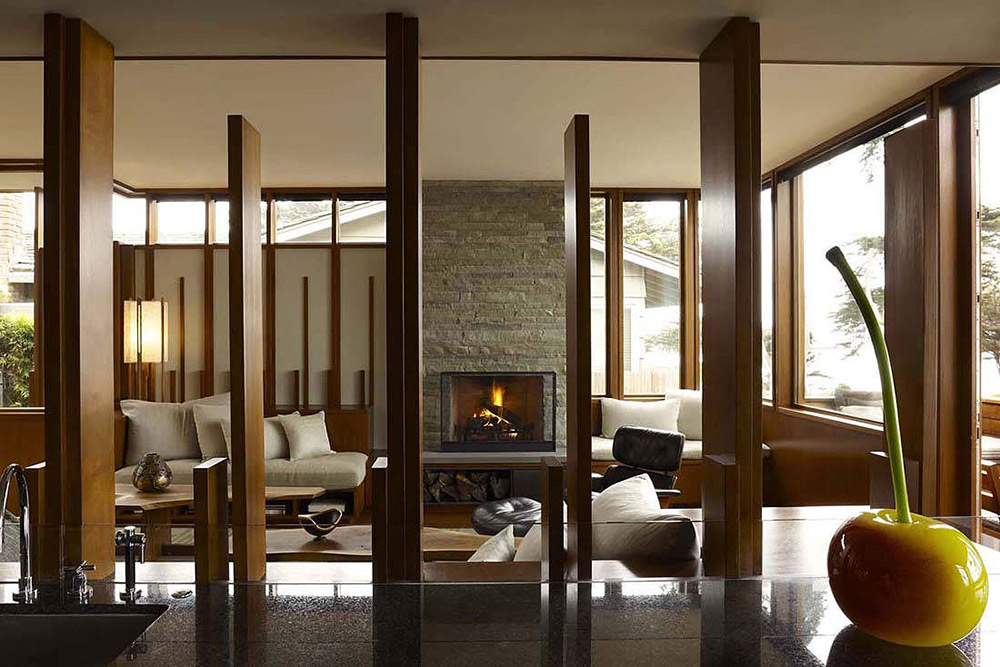 Contemporary Firepalce, Carmel Residence, California by Dirk Denison Architects