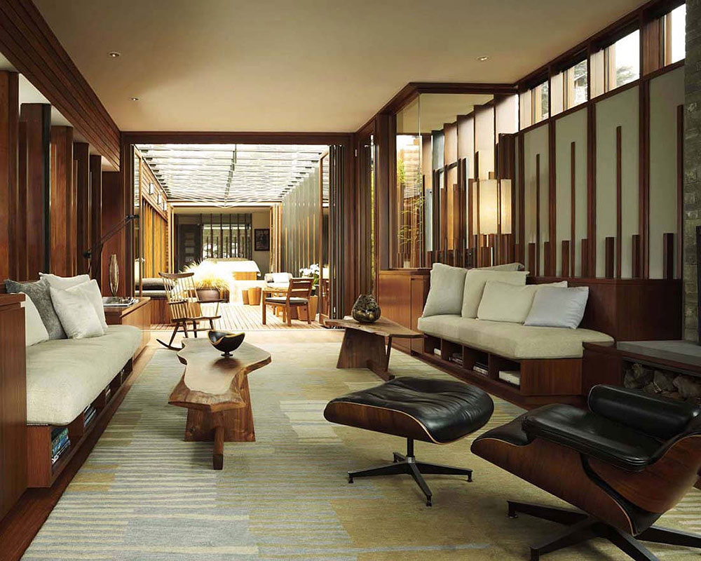 Living Space, Carmel Residence, California by Dirk Denison Architects