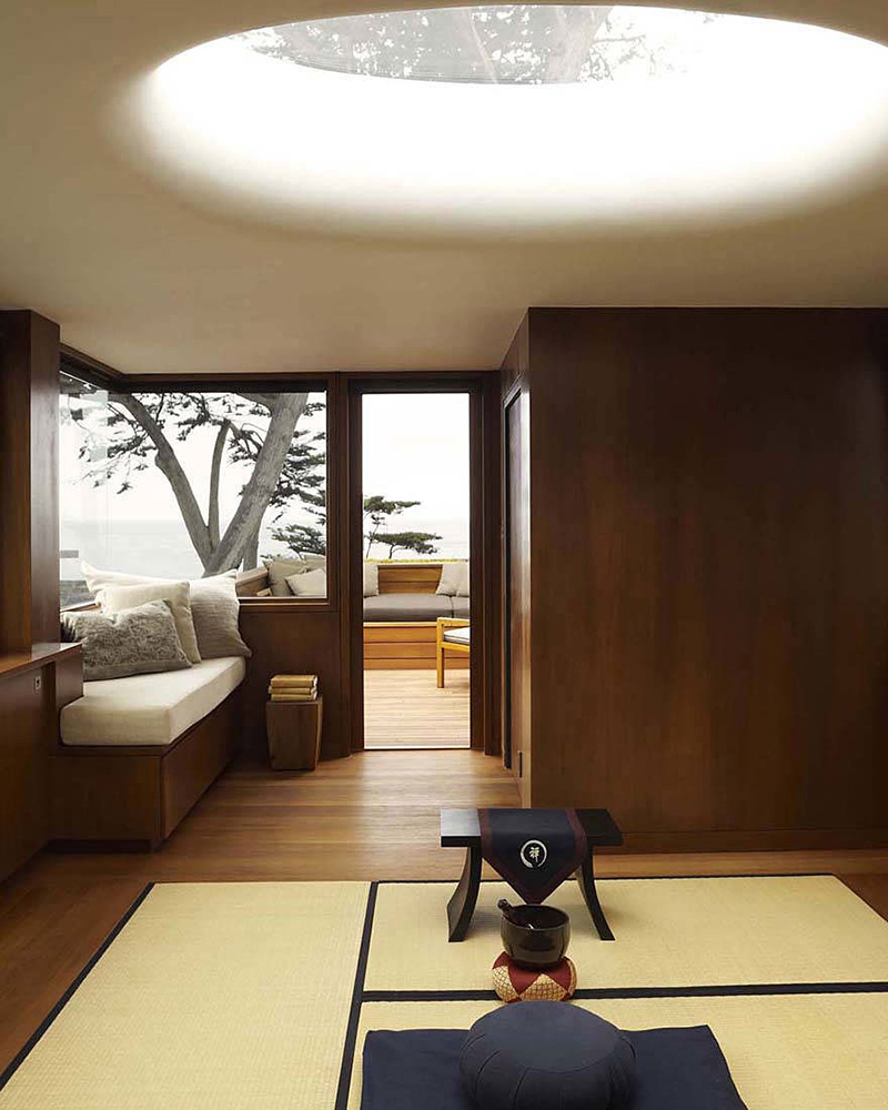 Meditation / Guest Bedroom, Carmel Residence, California by Dirk Denison Architects