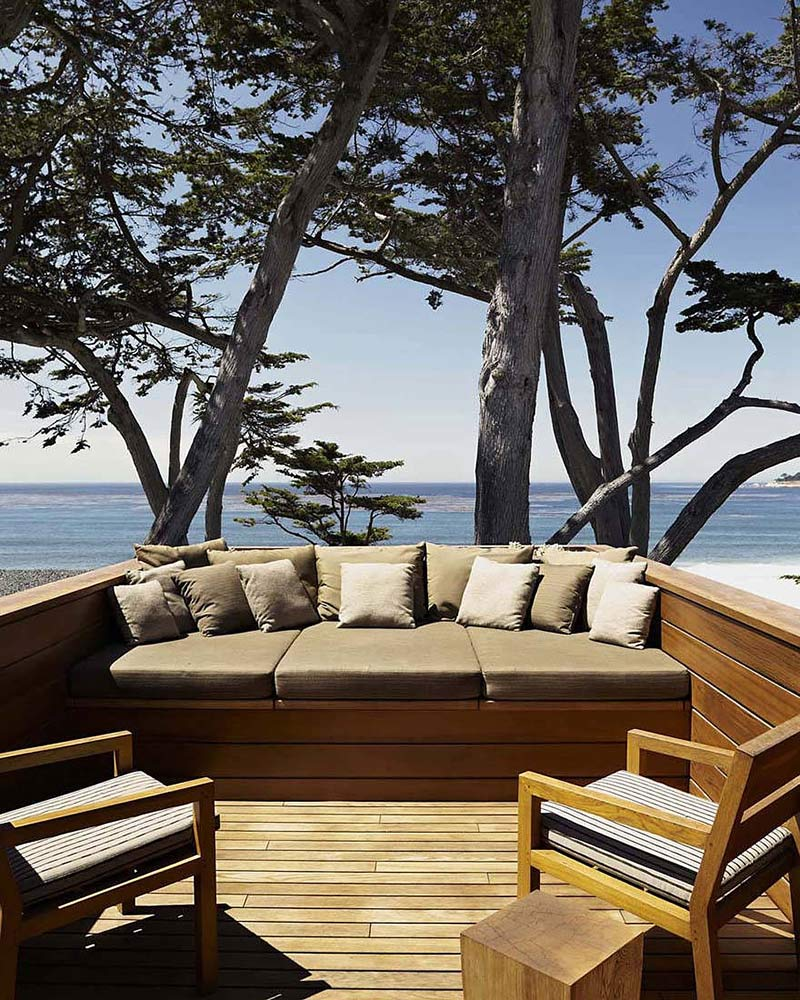 Terrace, Carmel Residence, California by Dirk Denison Architects